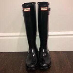 Black Hunter Rain Boots — Size 10